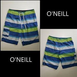 O'neill Men Blue stripe Cargo Board Short Size 34